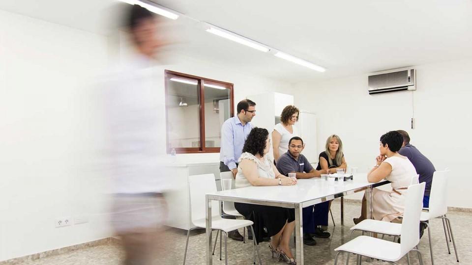 Equipo Gestinmédica en sus instalaciones