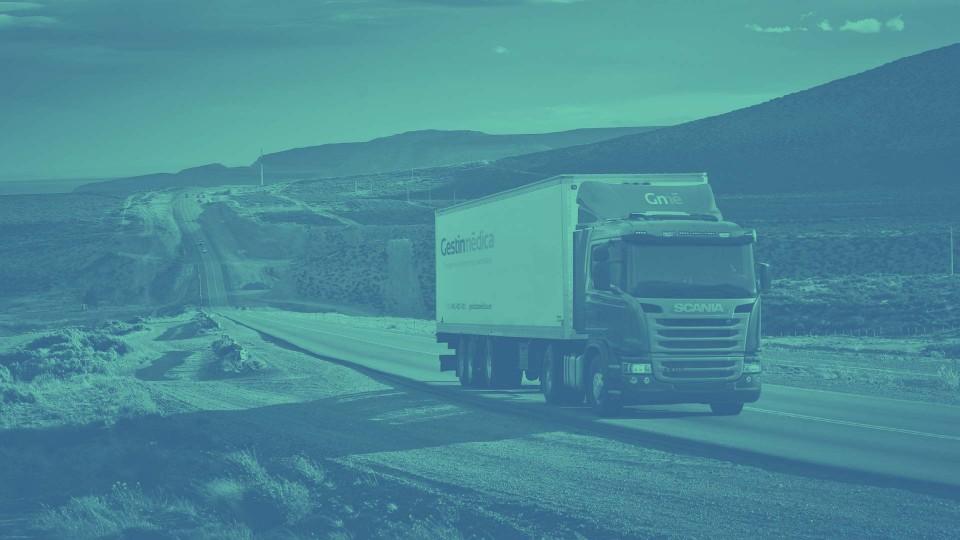 Camión en la red de dsitribución Gestinmédica